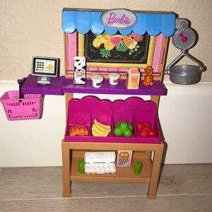 Barbie market grocery set
